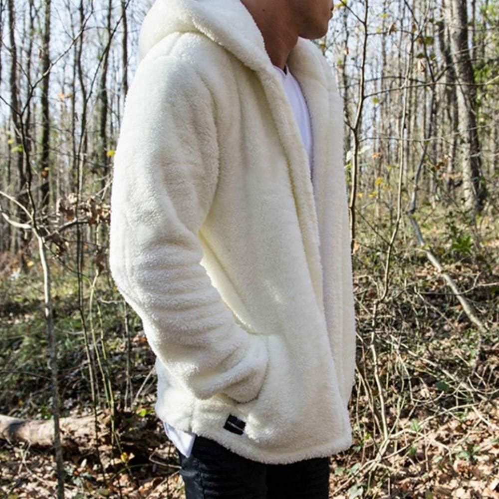 Mens Sherpa Pullover Hoodie Pebble Pile Fleece Oversized Sweatshirts Pockets Outfits Fuzzy Fluffy Kangaroo Outwear