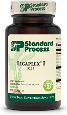 Standard Process Ligaplex I - Whole Food RNA Supplement, Manganese Supplement, Bone Health and Bone Strength, Joint Support with Phosphorus, Shitake, Calcium Lactate, Beet Root and More - 150 Capsules