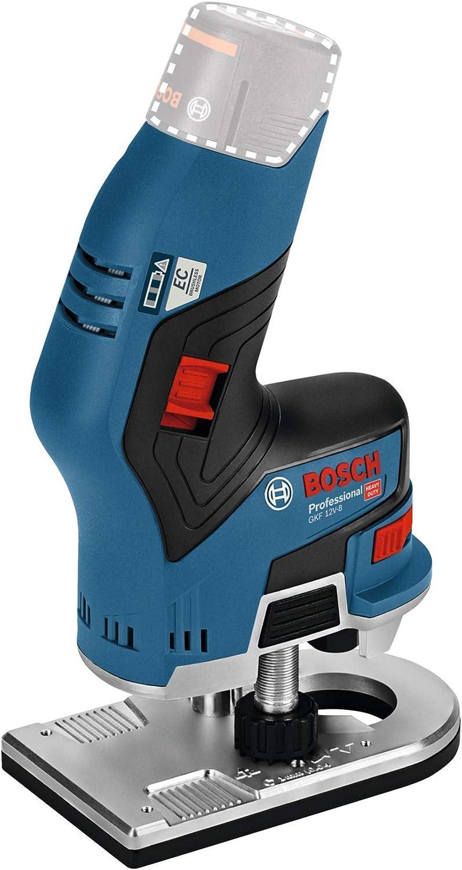 Bosch Professional GKF 12V-8 - Fresadora de cantos a batería (12 V, 13000rpm, pinzas Ø 6 mm / 8 mm, sin batería, en caja)