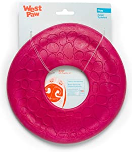 West Paw Zogoflex Air Dash Durable Dog Frisbee Nearly Indestructible Flying Disc Dog Toy, 100% Guaranteed Tough, It Floats!, Made in USA