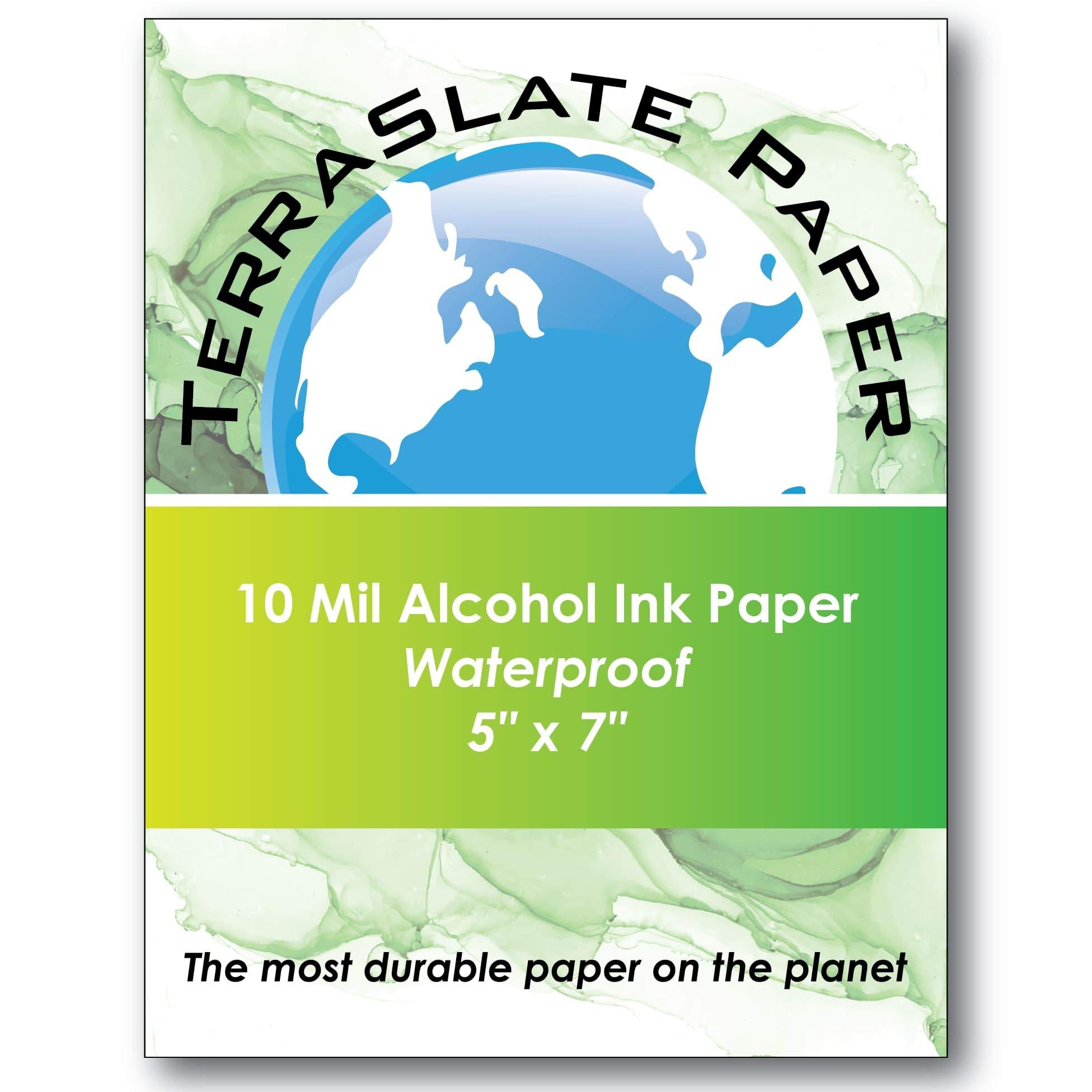 TerraSlate Paper 10 Mil 5'' x 7'' Alcohol Ink Art Paper 25 Sheets by TerraSlate