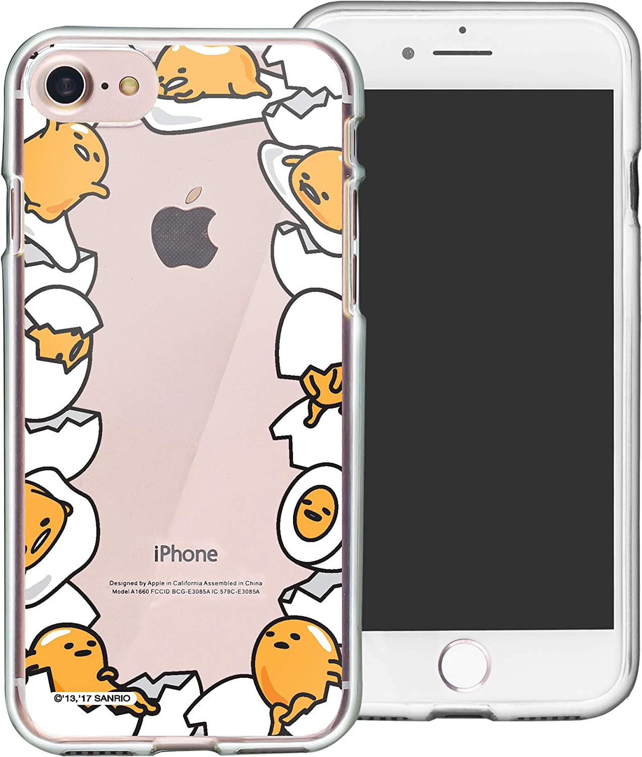 iPhone 5S / iPhone 5 Case Gudetama Cute Border Clear Jelly Cover [ iPhone SE (2016) / 5S / 5 ] Case - Border Gudetama