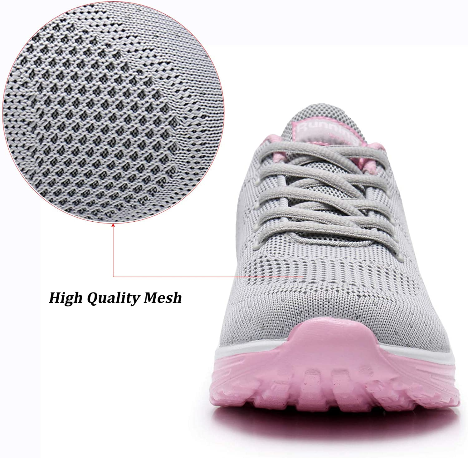 AUPERF Womens Athletic/Tennis Running Shoes Air Sports Walking Comfortable Gym Sneakers/ M US5.5-10 B