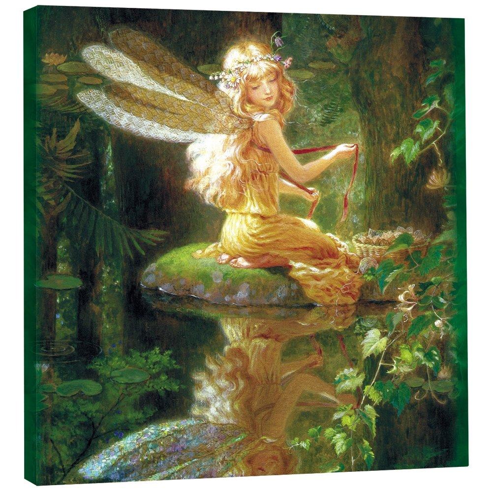 Faery Reflection Themed Fantasy Art 85497 Tree-Free Greetings EcoArt Home Decor Wall Plaque 11.25 x 11.25 Inches