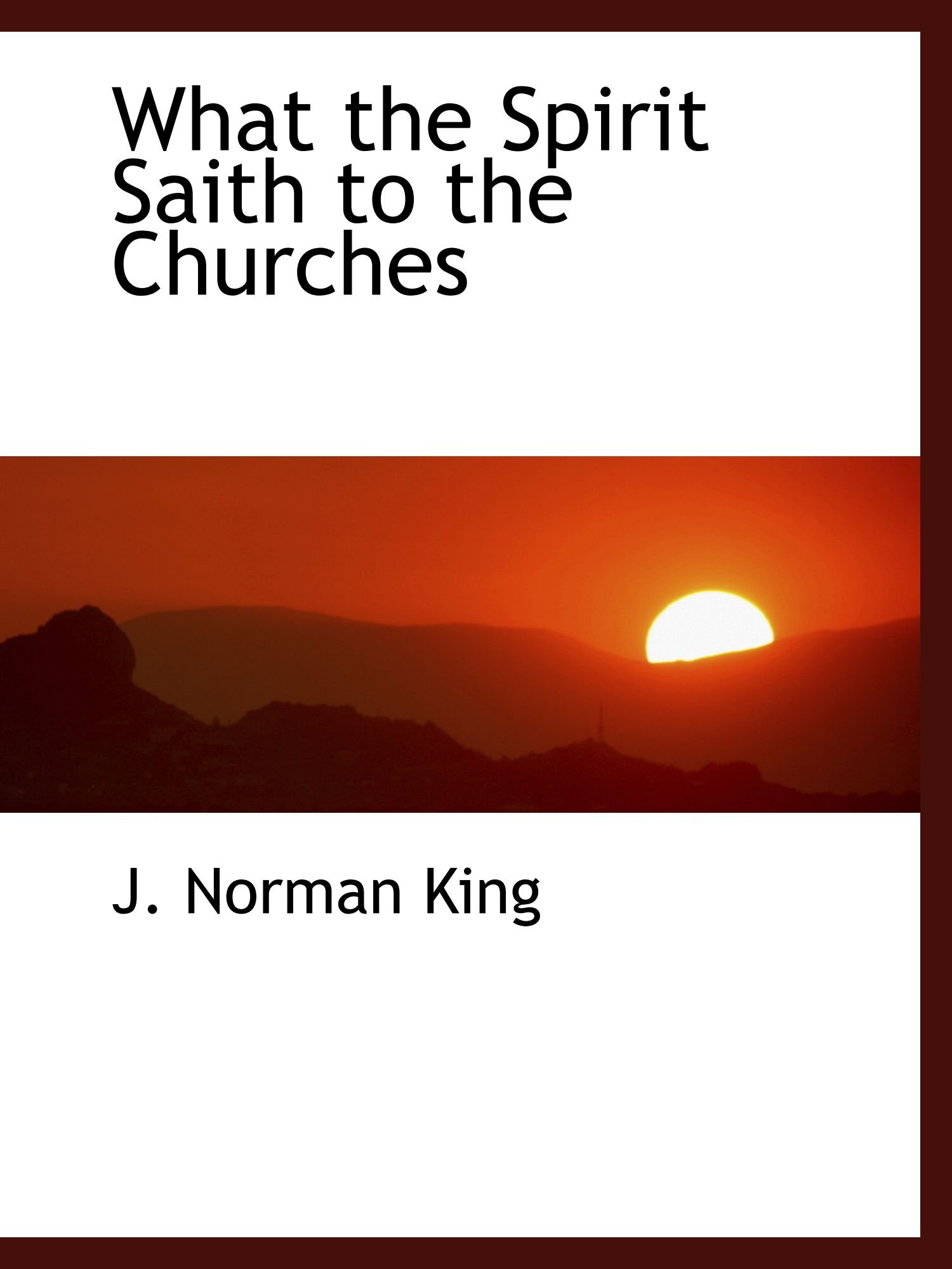 What the Spirit Saith to the Churches PDF