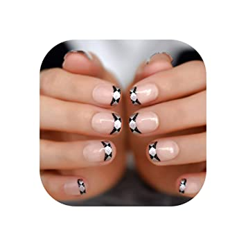 Daily French Nail Natural Classical Leopard     - Amazon com