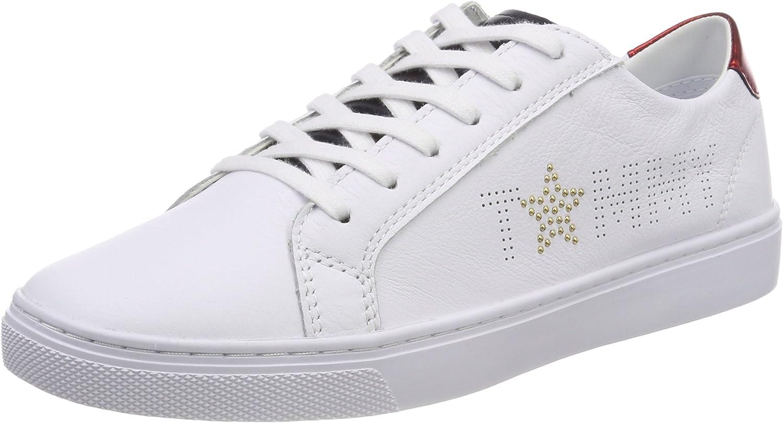 Tommy Hilfiger Tommy Star Metallic Sneaker, Zapatillas para Mujer