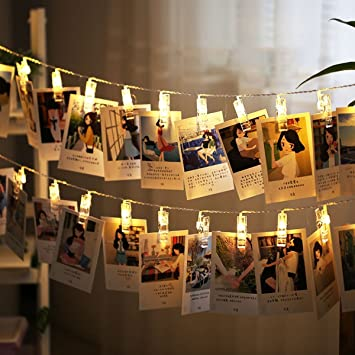 Naisidier LED Photo Clip String Lights With 50 Clips USB Powered Fairy Lights  Home Decor Lights