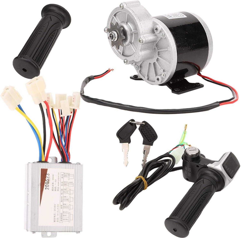 Asixxsix Controlador de Motor, Juego de conversión Cepillado 36V 350W Motor con empuñadura del Acelerador Motores de Scooter de 3000 RPM, para Bicicletas eléctricas Scooters eléctricos Triciclos