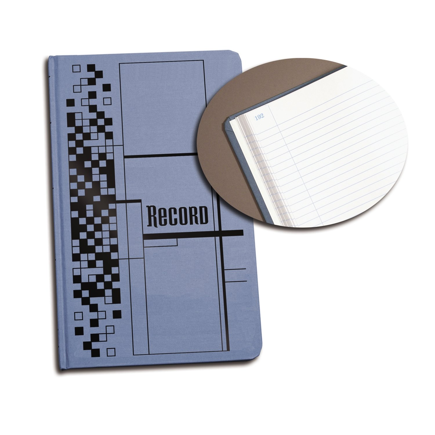 Adams Record Ledger, 12-1/8 x 7-5/8 Inches, Blue Cloth Cover, 300 Pages (ARB712CR3)