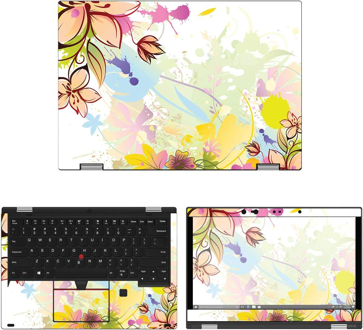 "Decalrus - Protective Decal Floral Skin Sticker for Lenovo ThinkPad Yoga L390 (13.3"" Screen) case Cover wrap LEtnkpdYg_L390-128"