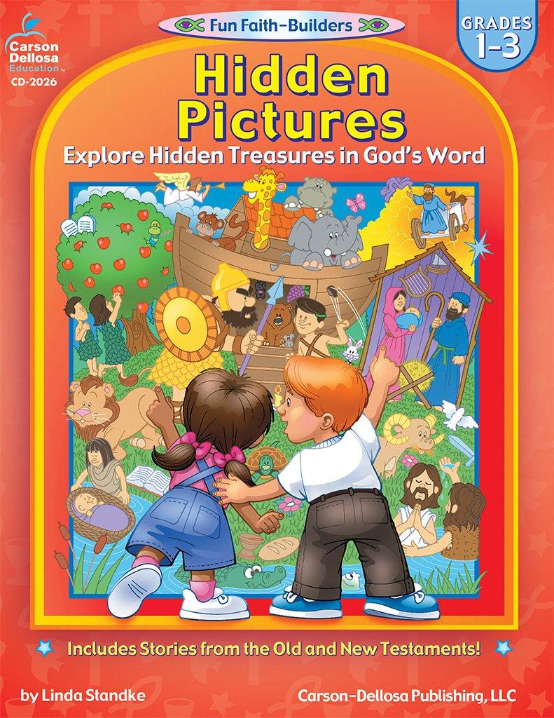 Hidden Pictures, Grades 1-3: Explore Hidden Treasures in God's Word (Fun Faith-Builders)