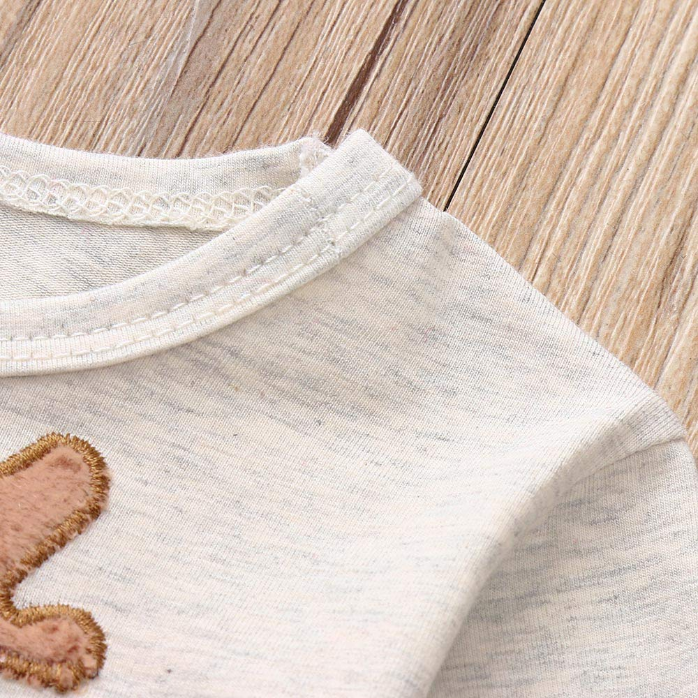 Dinlong Christmas Girls Boys Clothes Long Sleeve Deer Print Tops Pants Outfits