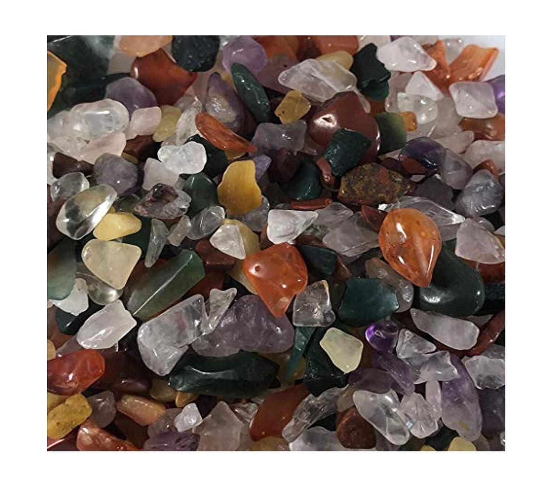 1 Bag 100g Colorful Mixed Irregular Shape Tumbled Stones Rock Gem Beads Chips Amesii