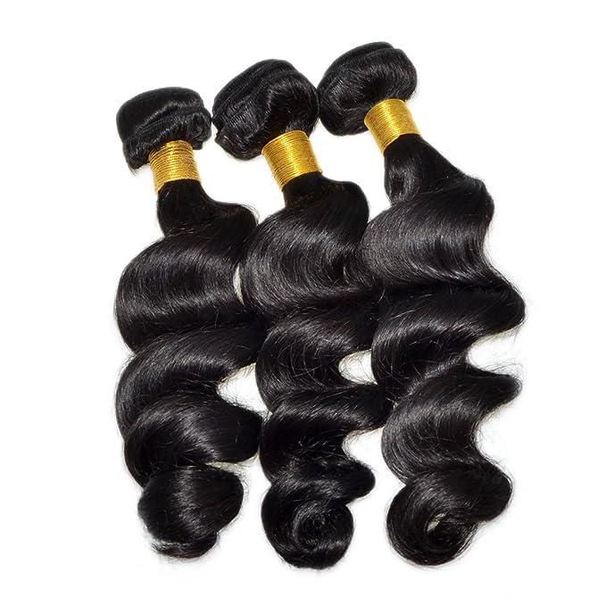 Peluca Buena Calidad y 5 A Brasil lockig peluca 100% Pelo de Human 3pcs Set: Amazon.es: Belleza