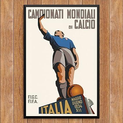 Fridgedoor Vintage Italian Soccer Champ Poster 12 X 18 Print