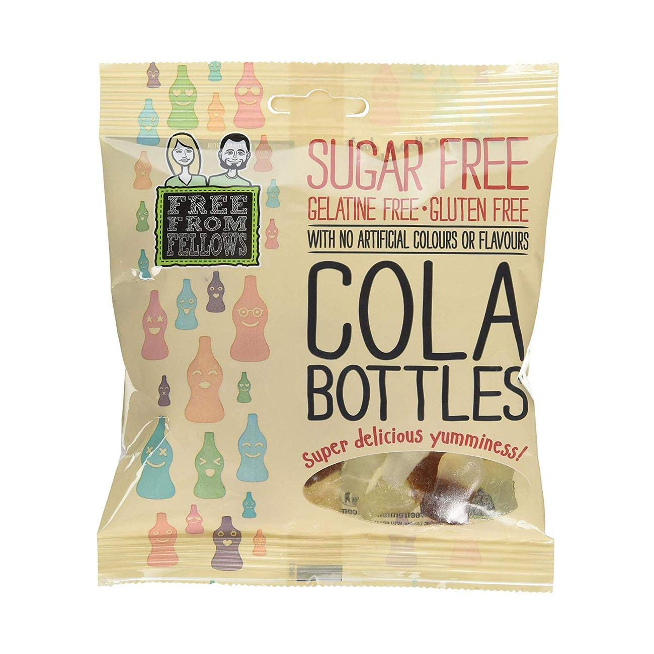 10 x Free From Fellows Sugar Free Cola Bottles Sweets 3.5oz by Free From Fellows