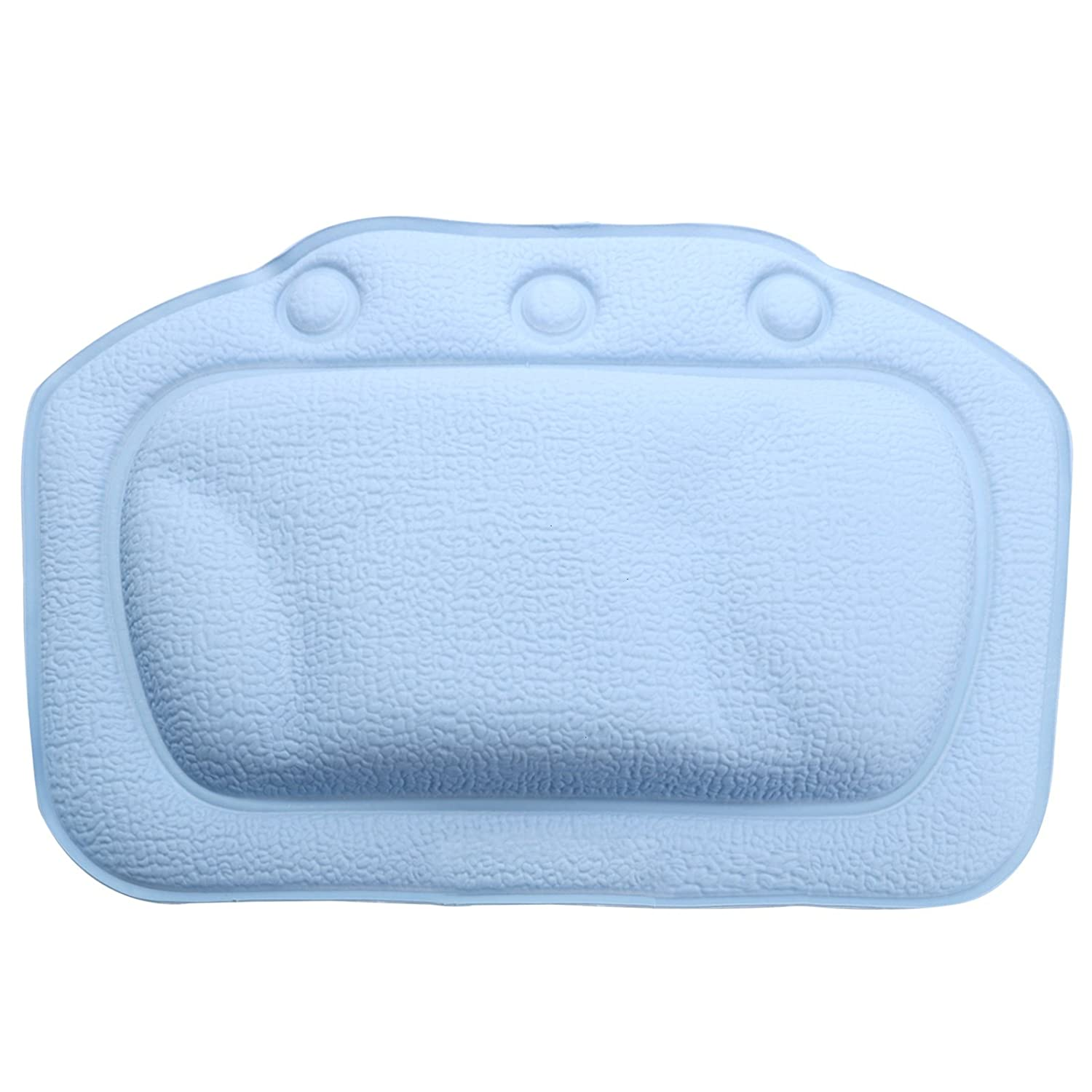 Feeko Bathtub Pillow, Bath Spa Relaxing Cushion Pillow with Suction Cups Blue