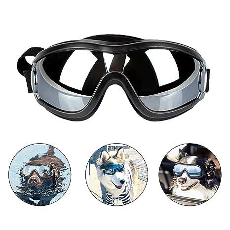 PEDOMUS Perros Gafas netive Gafas de Sol para Mascotas Resistente al Agua Resistente al Viento Ojo Protección para Perro Grande/Mediana