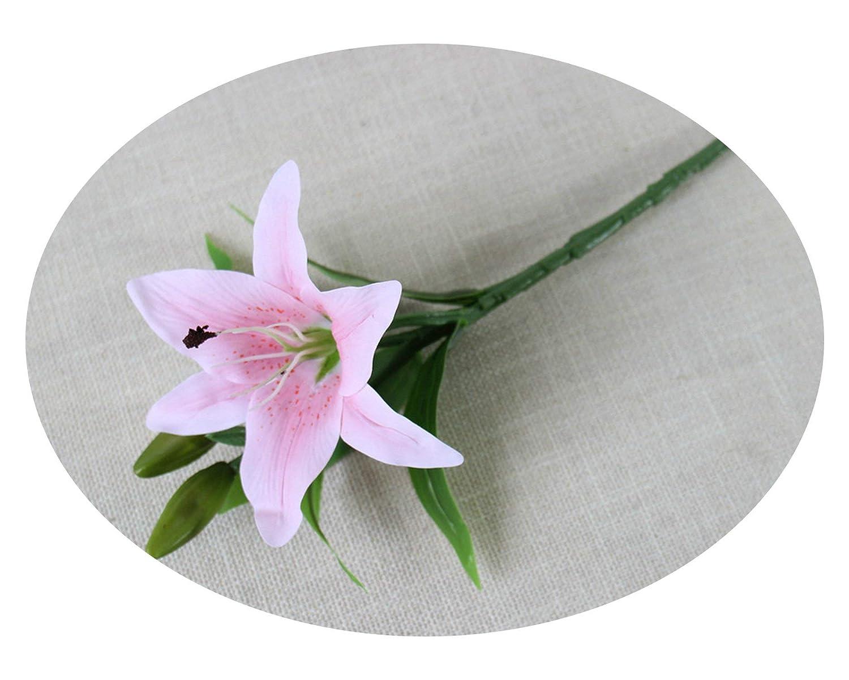 Lilium Casa Blanca Lily - Flores Artificiales de Poliuretano para ...