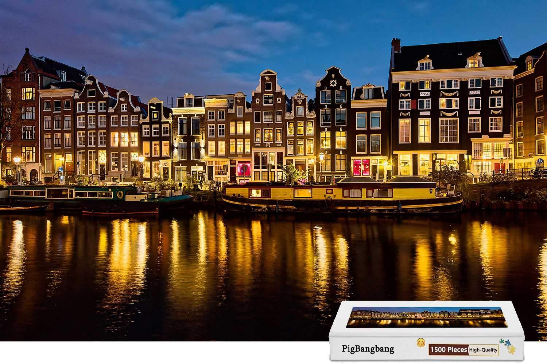 2019年最新入荷 PigBangbang,Photomosaic Basswood 22.6インチ) in a Box - オランダアムステルダムハウス a リバー X - 1500ピース ジグソーパズル (34.4 X 22.6インチ) B07HF76MMM, 粋な着こなし:5aa73891 --- a0267596.xsph.ru