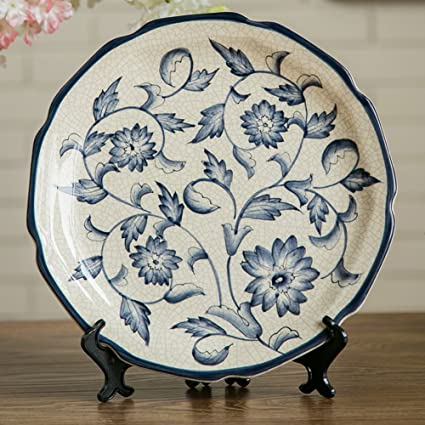 Wall Decoration Crafts Ceramic Decoration Hanging Plate Art Pendulum Plate : decorative fruit plates for hanging - pezcame.com