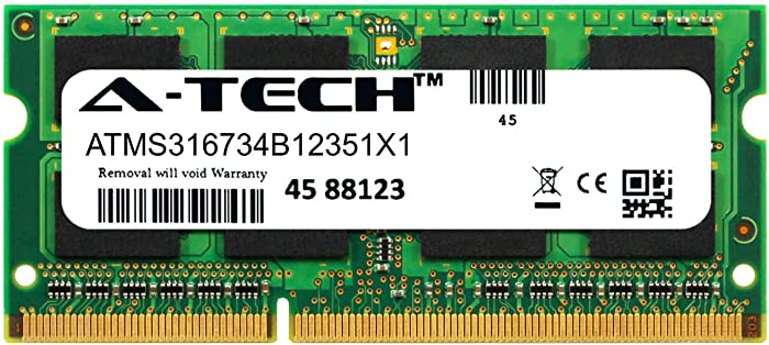 A-Tech 8GB Module for Dell Precision M4600 Laptop & Notebook Compatible DDR3/DDR3L PC3-12800 1600Mhz Memory Ram (ATMS316734B12351X1)