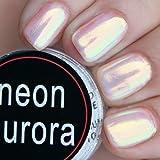 PrettyDiva Mermaid Chrome Nail Powder, Aurora Iridescent Unicorn Nail Powder Manicure Pigment for Nail Art