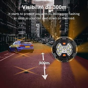 Rundumleuchte Led Orange Sicherheitslampe Auto Fahrzeug Bawoo 2 In 1 Magnetschild Taschenlampe Wiederaufladbar Warnlicht Wasserdicht Auto