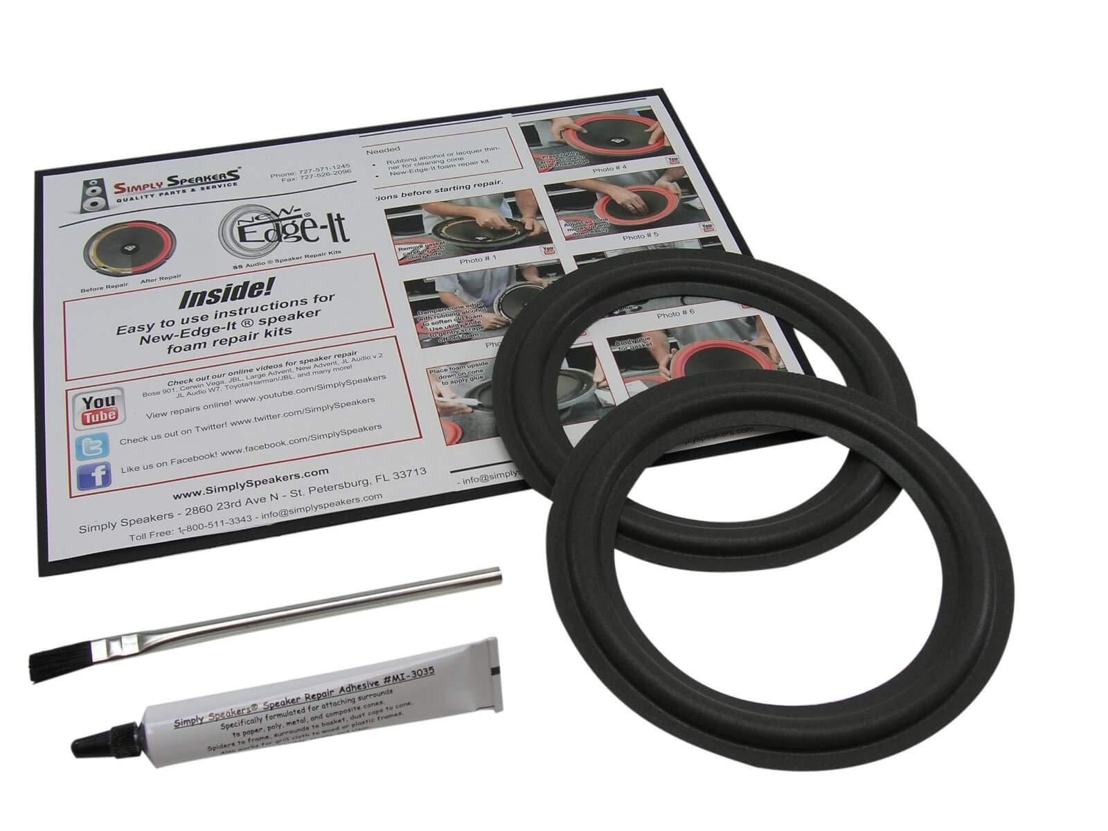 Advent 6.5 Inch Foam Speaker Repair Kit FSK-6.5 (Pair) by Simply Speakers