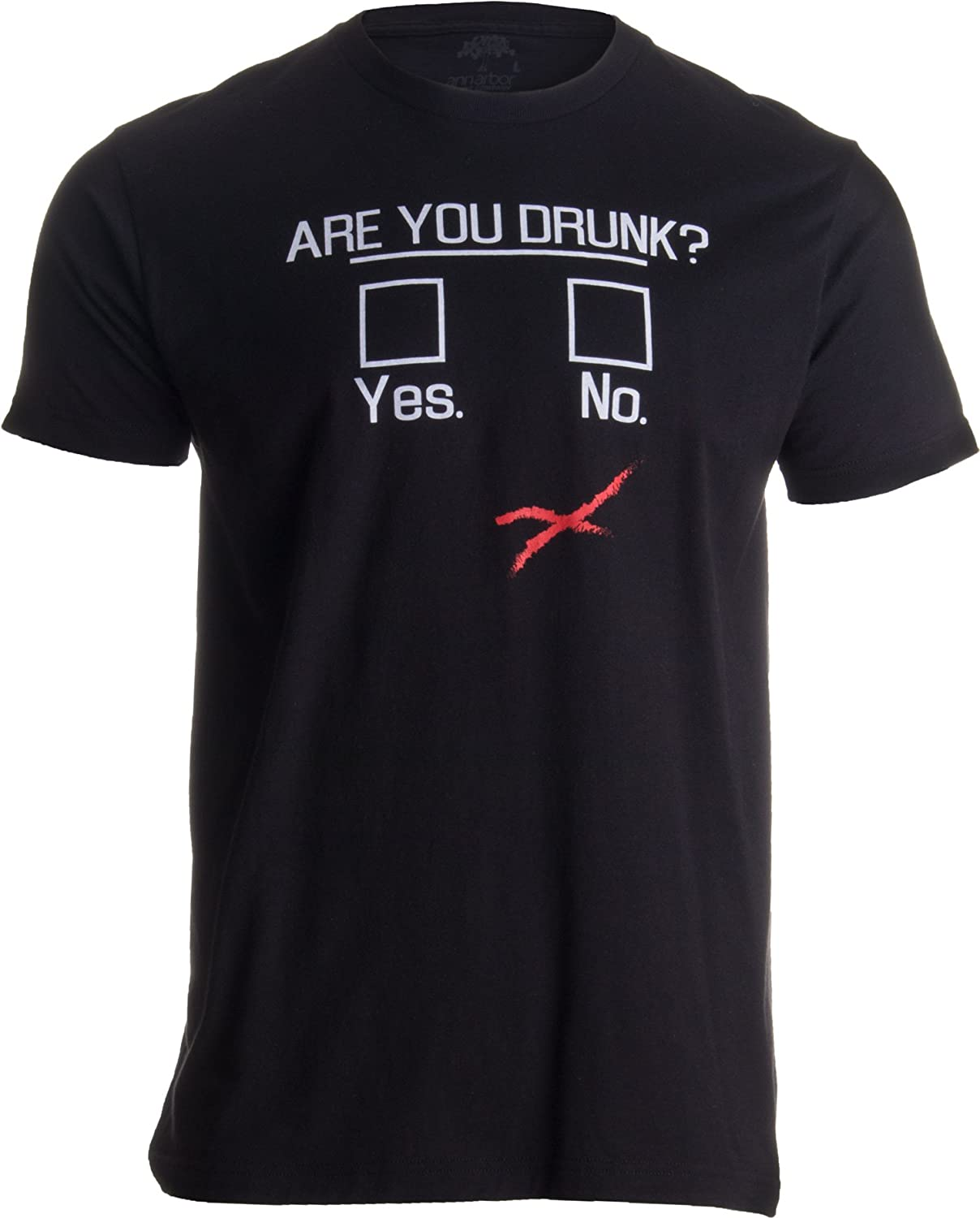 You Drunk? | Funny Beer Drinking, Bar Party Humor Gag Gift Unisex T-shirt Ann Arbor T-shirt Co. 0-beer_youdrunk-man