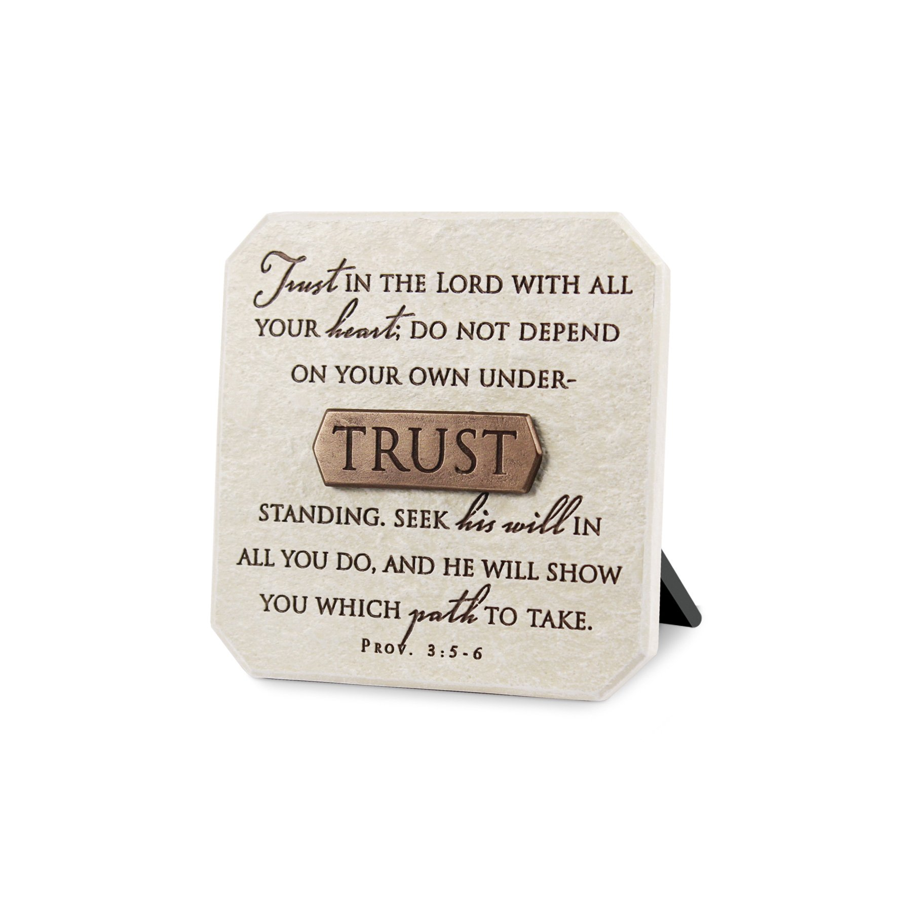 Lighthouse Christian Products Trust Title Bar Plaque, 3 3/4 x 3 3/4'', Bronze