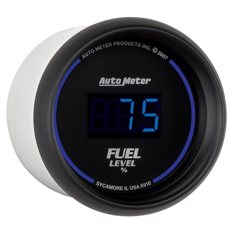 Auto Meter 6910 Cobalt Digital 2-1/16'' 0-280 ohm Digital Fuel Level Programmable Empty - Full Range with Preset