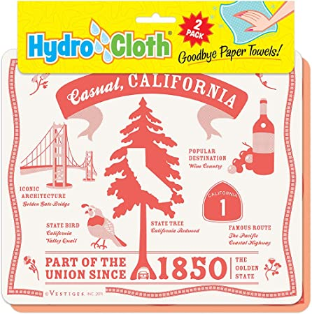 Fiddler S Elbow Casual California Hydro Cloth Eco Friendly Sponge Cloths Reusable Swedish Dish Cloths Set Of 2 Printed Sponge Cloths Kitchen Bath Auto Replaces 30 Rolls Of Paper