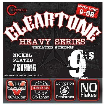 Cleartone 9409-7 - Cuerdas de guitarra eléctrica, calibre 9-52: Amazon.es: Instrumentos musicales