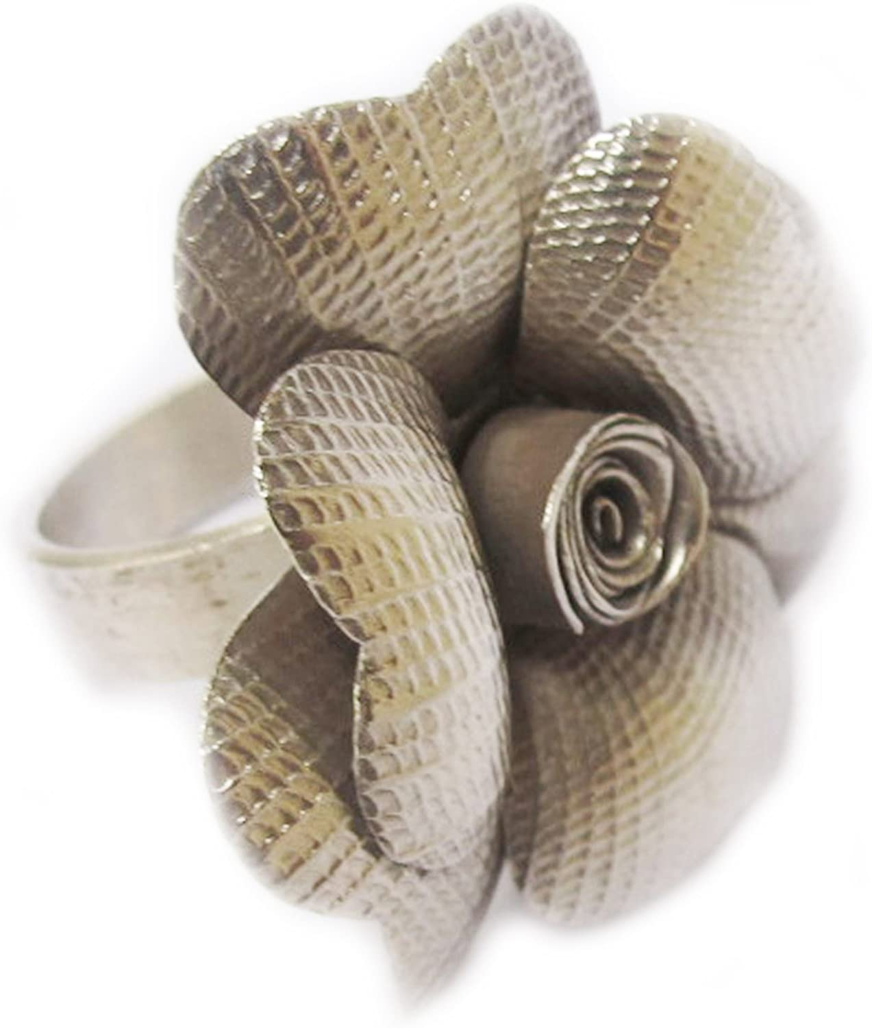 KAREAN HILL TRIBE BOX 17-101 Beautiful Free Shipping WEIGHT 9.30 G PURE 99.5/% NICE GENUINE FLOWER THAI KAREN HILL TRIBE SILVER RING SIZE NO.7 BY HANDMADE ADJUSTABLE 7-8