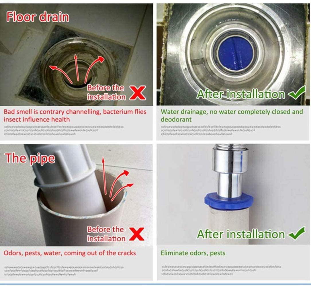 QQSA Drain Backflow Preventer,Deodorant Bodenablaufkern,Silikonabwasserkanal Deodorant Dichtring,F/ür K/üche Badezimmer Bodenablaufrohr Kanalisationsring Dichtungsring Bodenablauf
