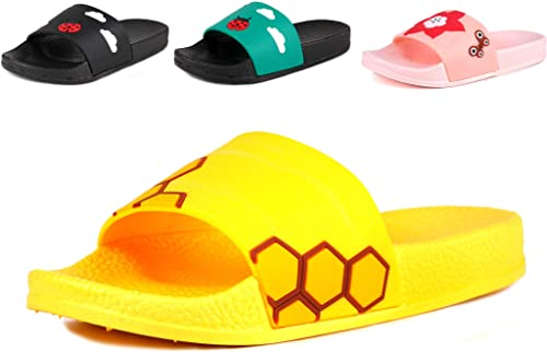 Kids Summer Slipper Shark Nautical Tour House Slippers Shower Slide Anti-Slip Beach Pool Bath Sandals for Boys Girls
