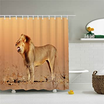 Image Unavailable Not Available For Color Lion Shower Curtain