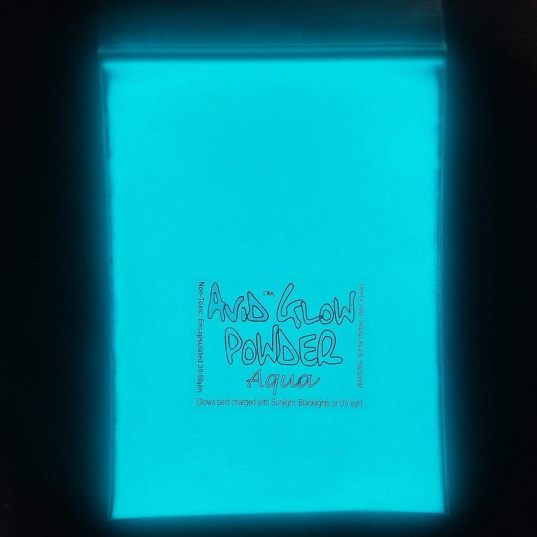 Strontium Aluminate glow in the dark green,aqua,blue mix with epoxy resin