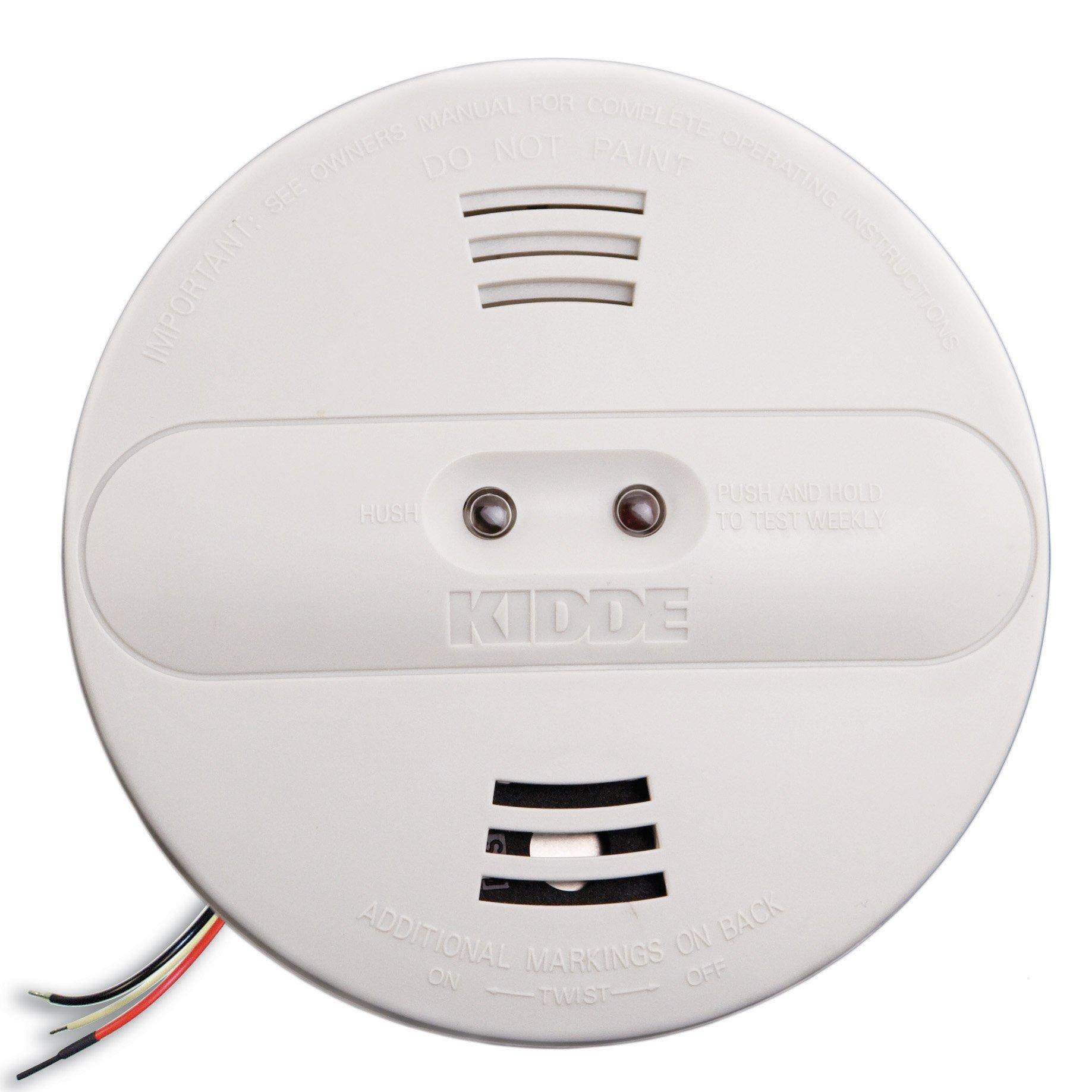 Kidde PI2010 Hardwired Dual Photoelectric and Ionization Sensor Smoke Alarm with Battery Backup by Kidde