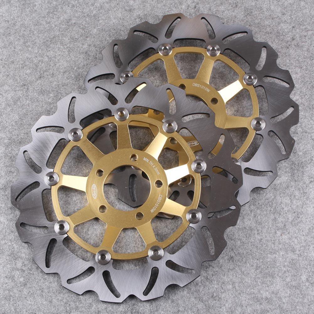 GZYF バイク フロント用 ブレーキ ディスクローター ウェーブタイプ スズキ GSF1200 GSF400 GSF250 GSX1200 GS500(E)(F) RF900   B01DD1Q16O