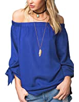 Just Quella Women's Off The Shoulder Top Blouse 8422