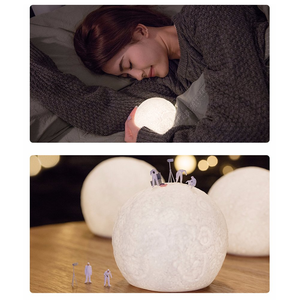 Dsstyle Battery Version Colour-changing 3D Moon Light with Touch Sensor Night Light Decoration (without Battery) by Dsstyle (Image #6)