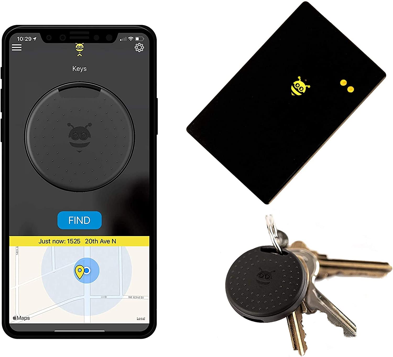 Pebblebee Finder 2.0 - BlackCard Wallet Finder & Key Finder -Rechargeable & 500 Foot Range
