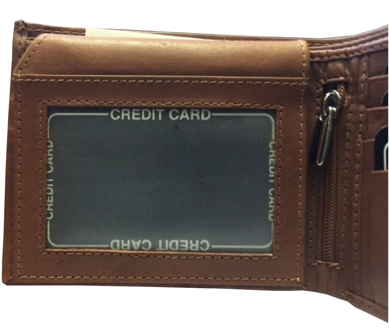 Amazon.com: BMF tipo portafolios Bi-Fold bordado original de ...