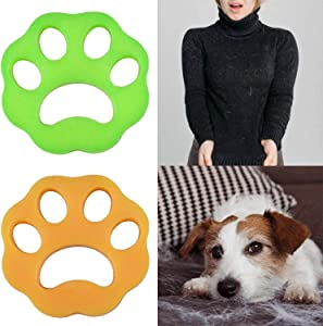 USAMS Pet Hair Remover for Laundry, Dogs Cats Hair Catcher, Non-Toxic Safety Reusable for Laundry Lint Washing Machine Fur Remover (2-Pack)