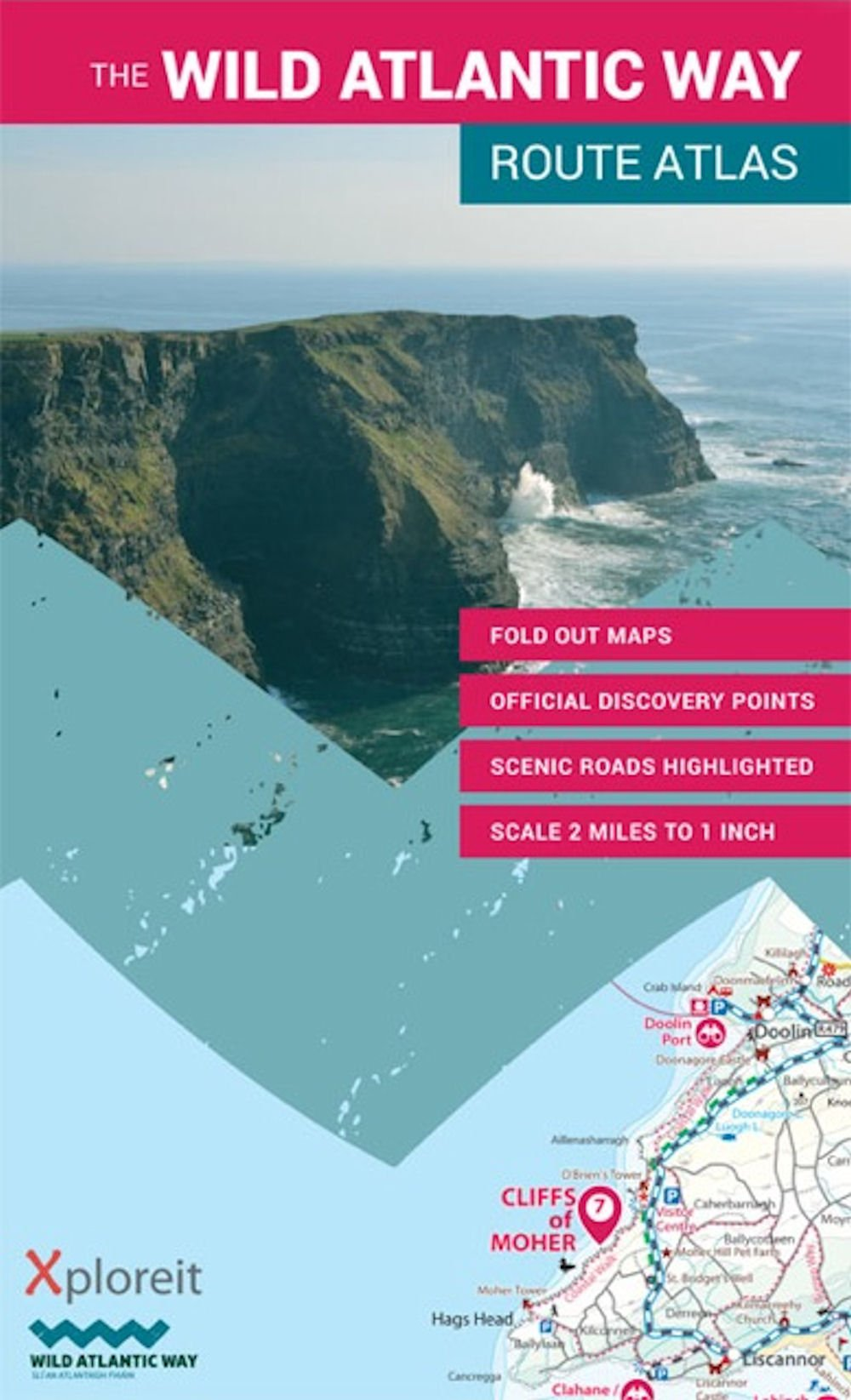 Wild Atlantic Way Route Atlas: Ireland's Journey West (Xploreit Maps)