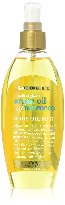 OGX Radiant Glow + Argan Oil of Morocco Body Oil Mist, 6.8 Ounce