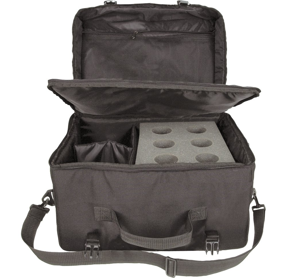 Musician's Gear 6-Space Microphone Bag by Musician's Gear